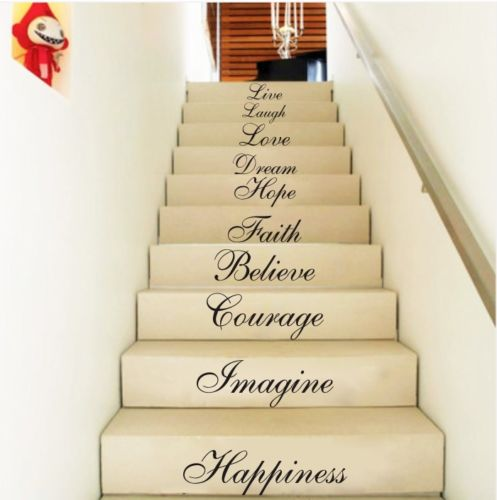 Removable Quote Word Decal Vinyl Wall Stickers DIY Home Room Decor Mural Art
