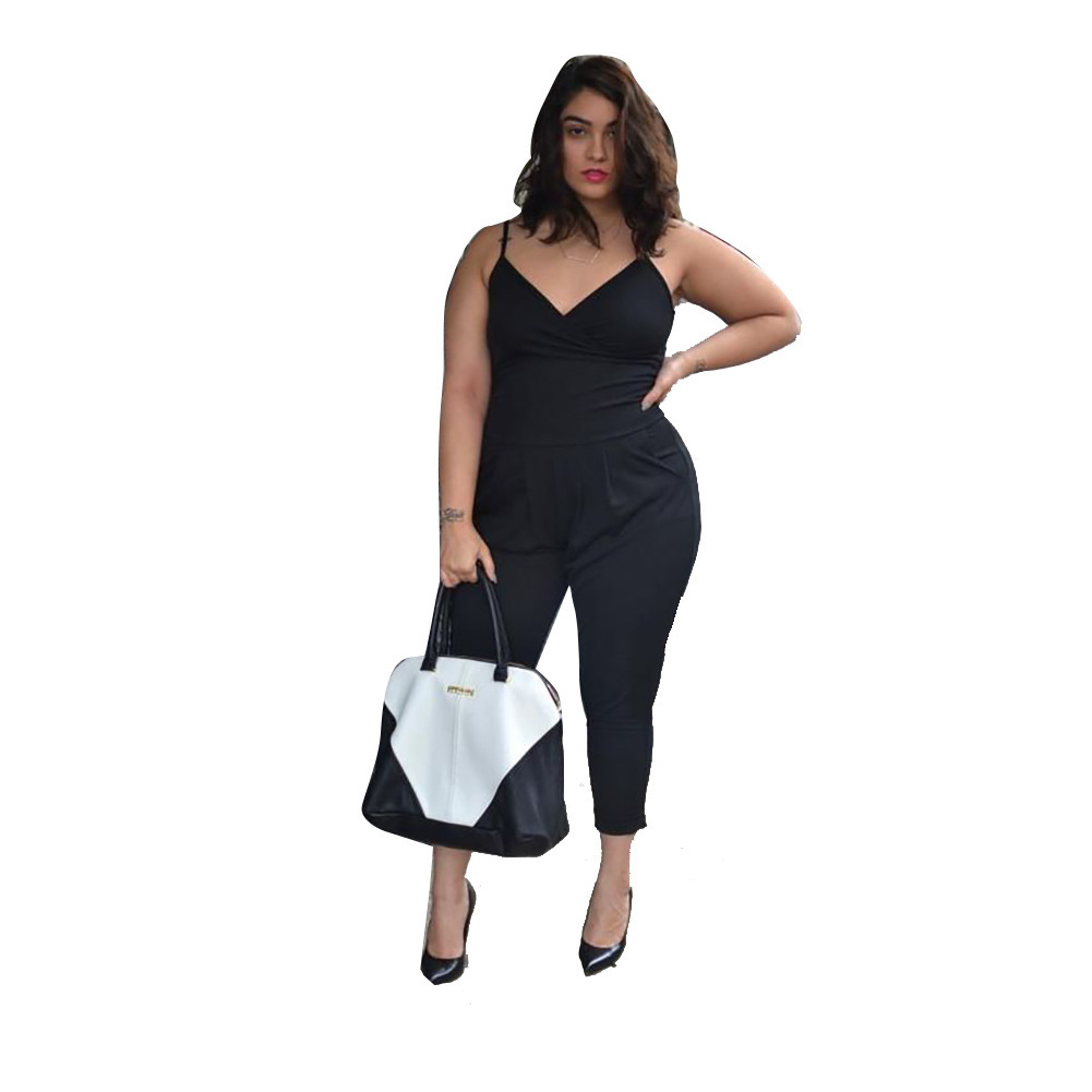 Fitness Strapless Solid Romper Jumpsuits for Women 2018 Summer Spaghetti Strap Playsuit Women Sleeveless Oversized Outerwear
