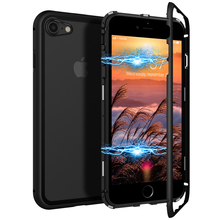 2 in 1 Phone Case For iphone 7 8 plus Cover Hard Transparent Back Protective Magnetic Shockproof Cover For iphone X Xs Case