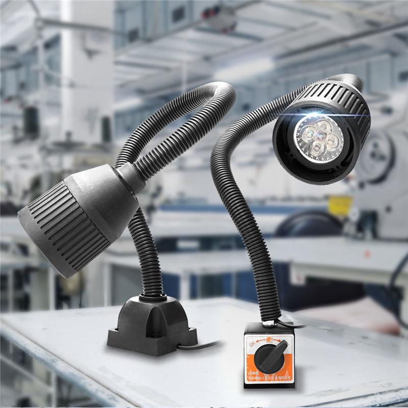 Smuxi 4W 100-220V Adjustable LED Machine Light Sewing CNC Machine Lathe Tool Light Milling Machine Work Light Work Table Lamp
