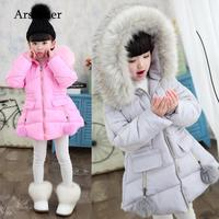 Children young girl winter warm jacket cotton jacket baby jacket kids coat kids clothing