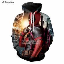 Movie Deadpool Funny 3D Print Jackets Men/Women Hiphop Streetwear Hoodie Hat Sweatshirts Boys Tops Tracksuits Clothes Harajuku