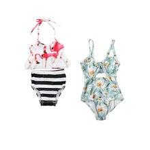Hirigin/Новинка, От 1 до 6 лет, цветочный купальный костюм для маленьких девочек цельнокроеная летняя одежда купальный костюм милый купальник, одежда боди