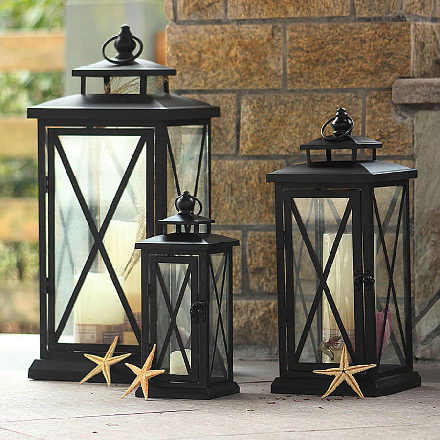 European Style Simple Candle Holder Wrought Iron Weeding Birthday Christmas Candle  Lantern Diwali Decorations Home Decor 50X103