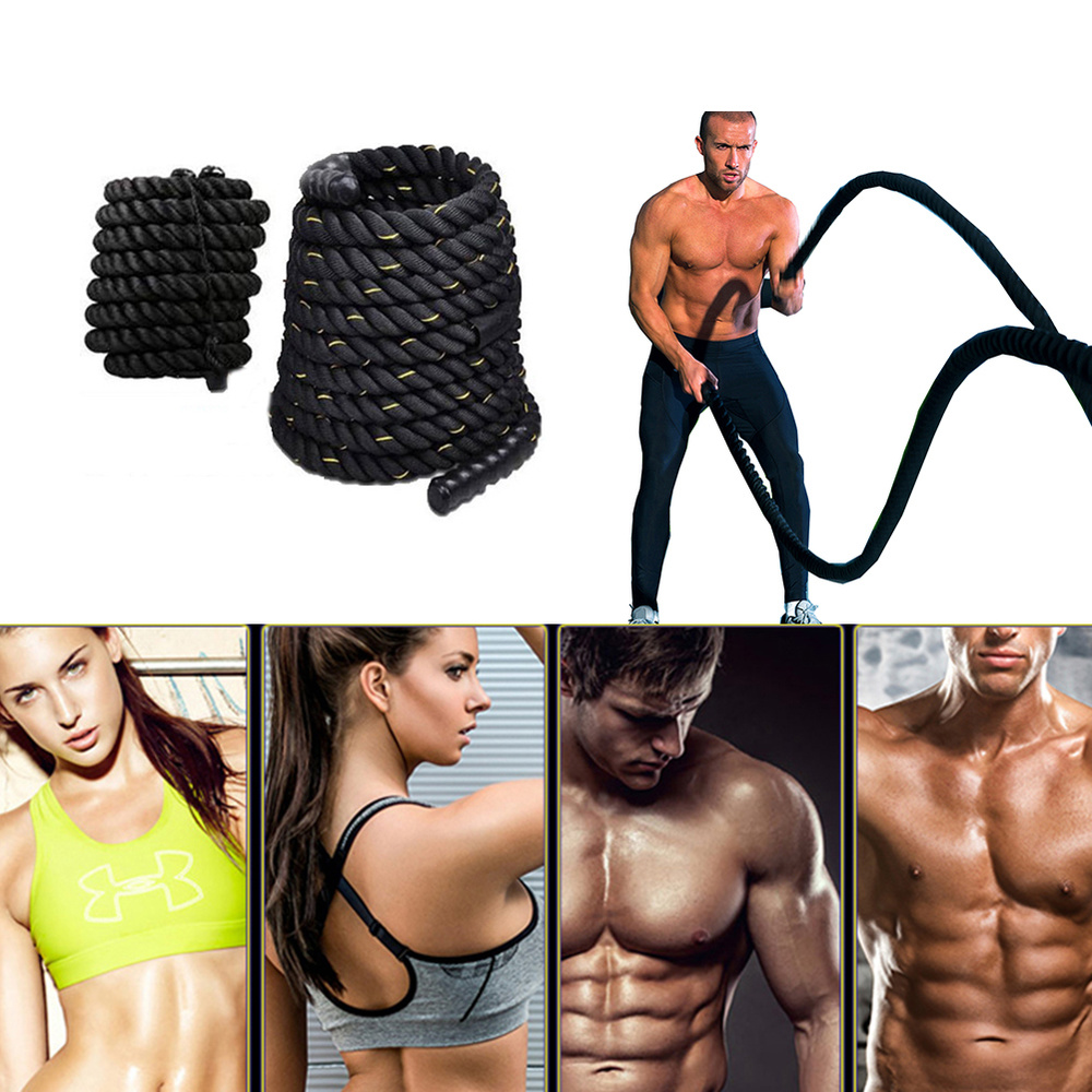 Heavy Undulation Battle Rope Workout Training Rope Bodybuilding Sport Fitness Equipment Slimming Fat Burning Muscle Exercise HWC