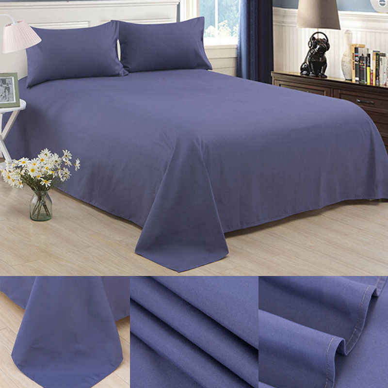 Home Textile  Soft Solid Colors Fitted Bed Sheet Bedding Cover Protector Single Double