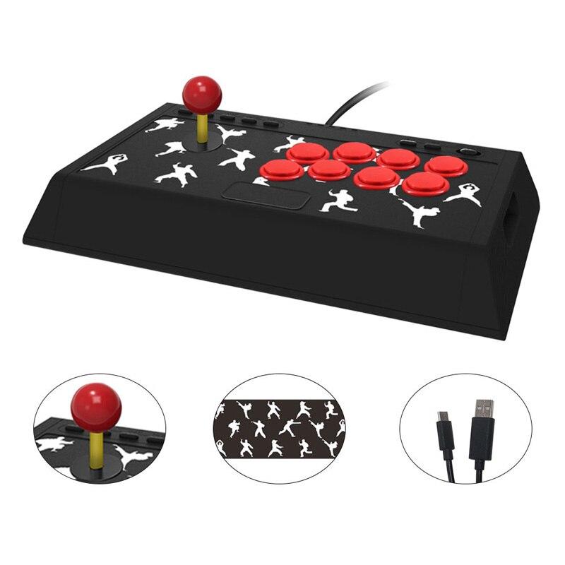 Contrôleur de jeu t-gtexnik manette d'arcade manette de jeu combat clé à bascule USB jouer sensation de combat de rue