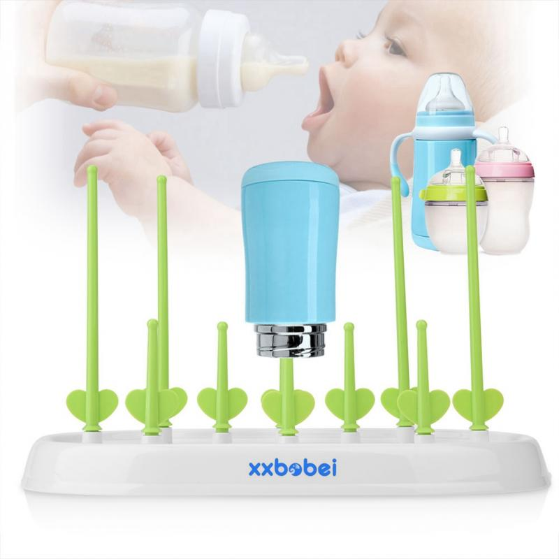New Baby Removable Bottle Drying Rack Feeding Holder Cups Dryer Countertop Shelf