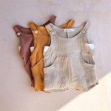 Для новорожденных; комбинезон для младенцев мальчиков девочек комбинезон, костюм без рукавов Цвет летняя хлопковая одежда для мальчиков и девочек верхняя одежда