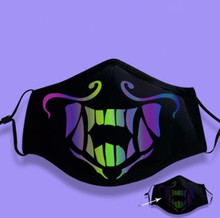 Game L . O K/DA Kda Group Akali Assassin Cosplay Face Mask Night Lights Luminous Prors