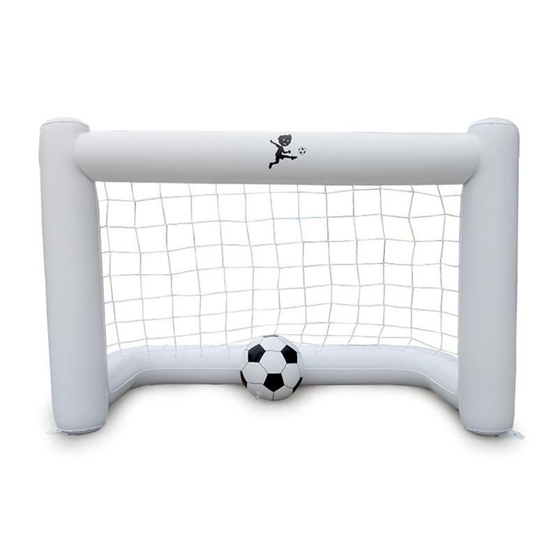 20 White Inflatable Soccer Net Environmental Friendly PVC Belt Net Inflatable Soccer Goal With Football 160*105*80cm