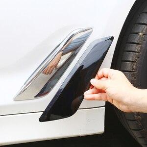 Image 1 - 2 PCS רכב סיבי פחמן סגנון צד כנף זרימת אוויר פנדר גריל Vent צריכת לשקע לקצץ עבור BMW 5 סדרה g30 2018