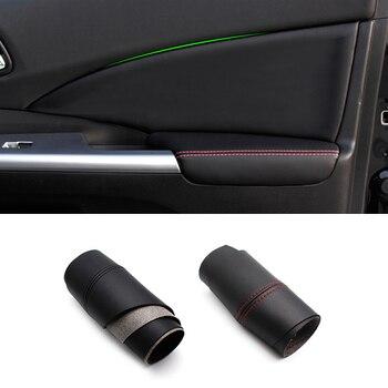 цена на For Honda CRV 2012 2013 2014 2015 2016 2017 4PCS Interior Microfiber Leather Car Door Panel Armrest Cover Protective Trim
