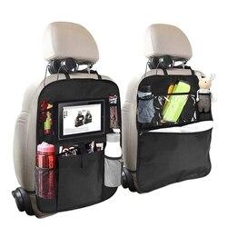 Organizer wieszany z tyłu siedzenia dla dzieci 2 typ (A + B) maty do kopania tylne siedzenie ochraniacz samochodowy z wieloma etui do przechowywania uchwyt na torebkę na stół iPad|Sprzątanie i organizacja|Samochody i motocykle -