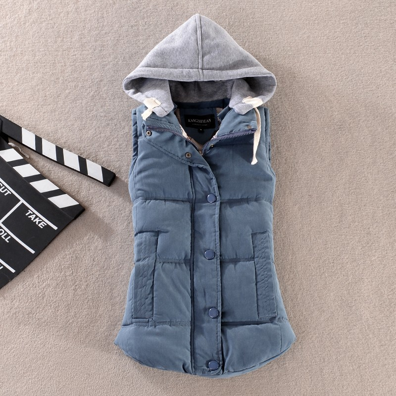 Plus Size 6XL Autumn Woman Winter Warm Down Vests Female Oversized Thick Women Removable Hooded Waistcoat