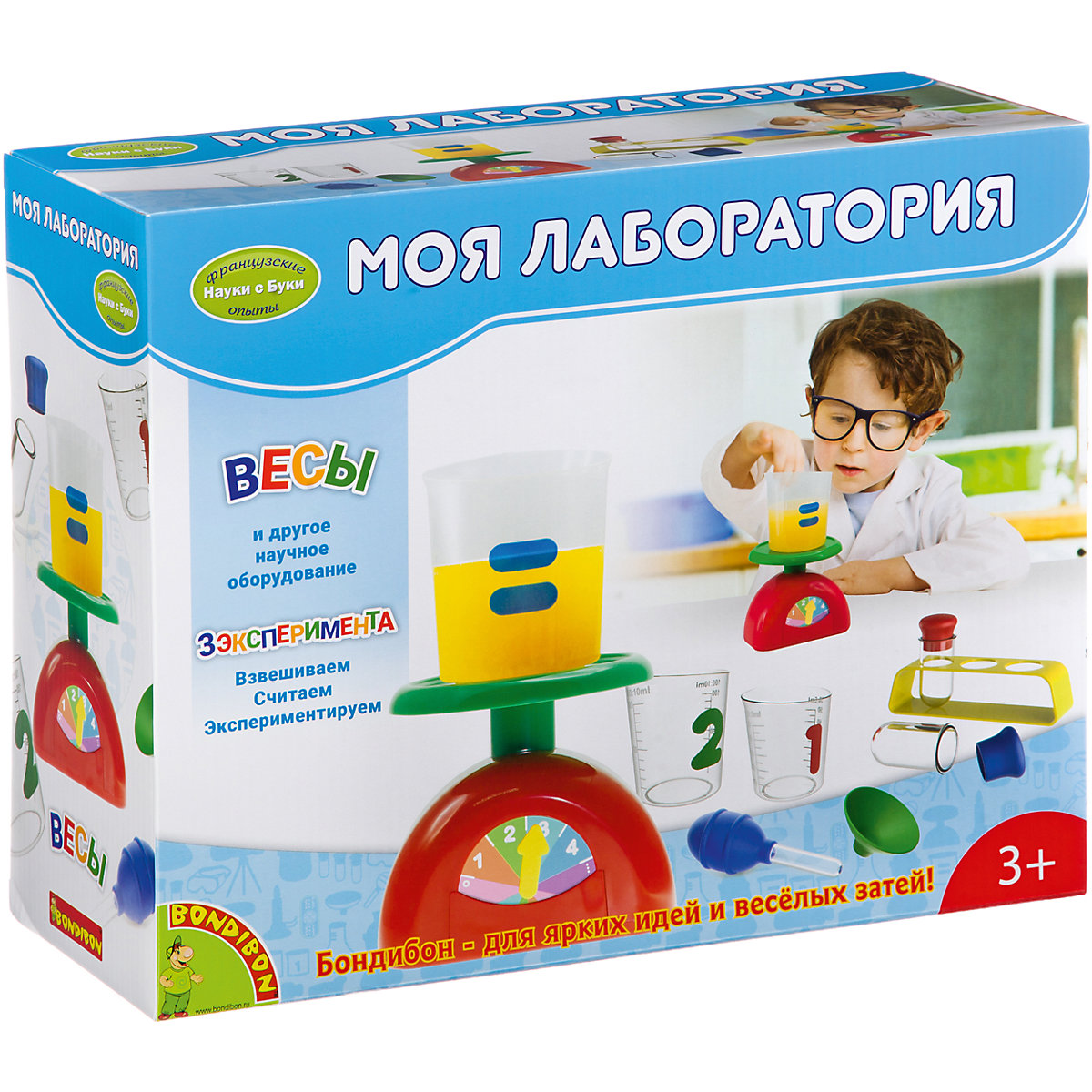 Bondibon Science 7420083 Experiments for children Educational toys Training toy Learning & Education wooden toys mathematics sticker educational toys for children early learning number math calculate game wood toy