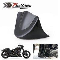 Мотоцикл яркий черный спереди подбородок спойлер скраб Fender интимные Аксессуары Воздушный обтекатель для Dyna Fat Bob Wide Glide FXDL 2006