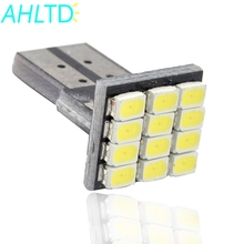 цена на 1Pcs T10 W5W Canbus White 1206 12LED Vehicle Tail Dashboard light DC 12V parking light side marker Light Wedge Lamp corner Bulb