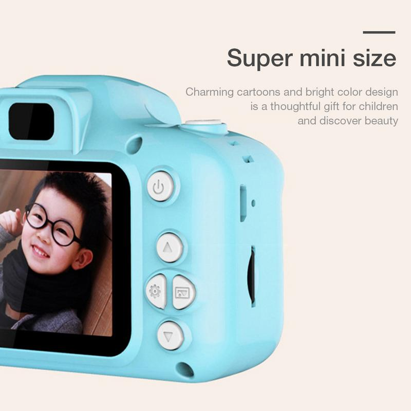 Kids Camera Toys Mini HD Cartoon Cameras Taking Pictures Gifts For Boy Girl Birthday Language Switching Timed Shooting HD real(China)