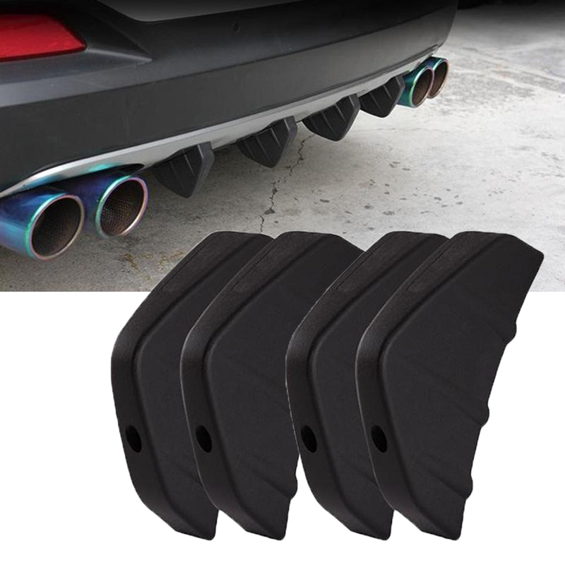 Image 2 - 4pcs Durable PVC Car Rear Bumper Diffuser Scratch Protector Cover Molding Trim Car Styling Decals Auto Accessories-in Bumpers from Automobiles & Motorcycles