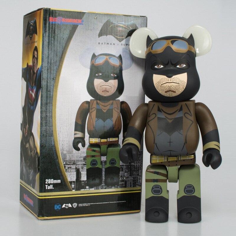 Kaws Bearbrick Joker Bears Set Dark Knight Block Toys Action Figure Cos Superman Batman Doll 100 DIY Medicom Model Toys Box Gift