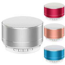 bluetooth speaker With Colorful LED Light portable Speaker 360 Degree Stereo Surround Metal sense Wireless Bluetooth