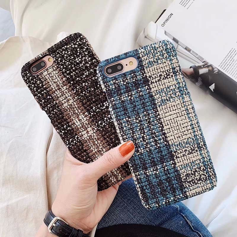 Cute Phone Cover For Iphone Xs Max Cloth Case Texture Cover For Iphone Xs Max Cloth Case Canvas Cover For Iphone 7 Xs Max 8 6