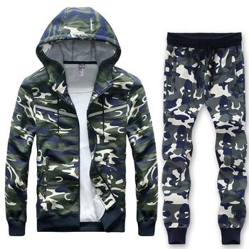 Sporting Sets Mens Big Size 8XL sweat Suit Cool Style Hip Hop Camouflage Loose Clothes Men Sportsuit Windproof tracksuit Set
