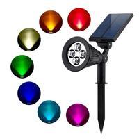 1/2pcs LED Garden Light Spot Outdoor Lighting Lawn Lights Waterproof IP65 Solar Spotlight Lamp Waterproof Adjustable 4 LED Light