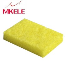 Yellow Hot New Arrival 50pcs/Set High Temperature Enduring Square Shape Electric Welding Soldering Iron Cleaning Sponge wlxy wl 002 mini soldering iron stand w cleaning sponge black yellow