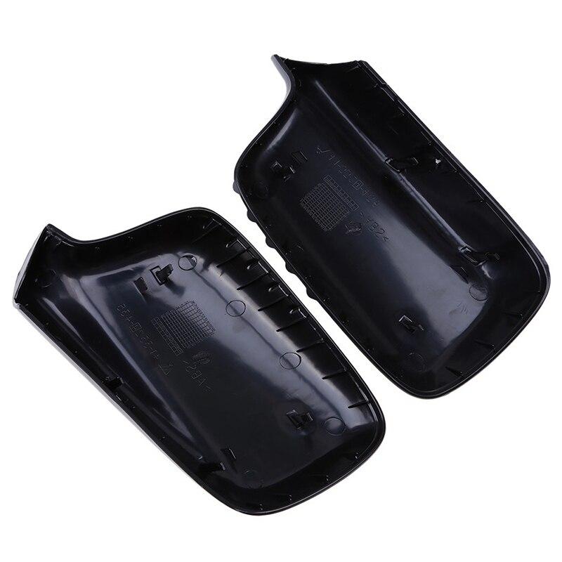 Abs черный боковое зеркало заднего вида Накладка двери заднего вида рамки для зеркал автомобильные аксессуары Подходит для Bmw E46 E65 E66 E67