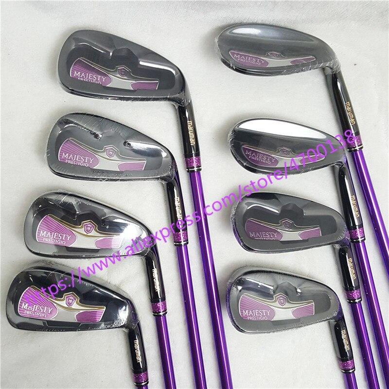 2019 женские клюшки для гольфа Maruman Majesty Prestigio 9 Golf irons5 10 P.A.S Утюги Клубы графит вал L flex Шлем Бесплатная доставка