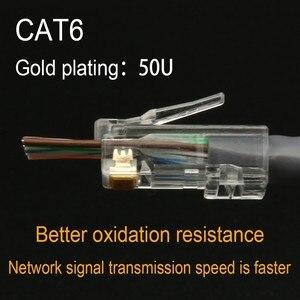 Image 4 - Xintylink EZ rj45 connettore cat6 rg rj 45 spina del cavo ethernet utp 8P8C rg45 gatto 6 presa di rete lan schermato modulare conector