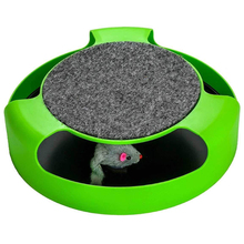 Hot Cat Interactive Toy With Rotating Running Mouse And A Two In One Scratching Pad Catch The Quality Fo
