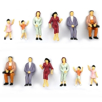 100 pcs Model People Painted Mini People Figures 1:100 Scale Painted Train Passenger Model Toy Miniatures Gift