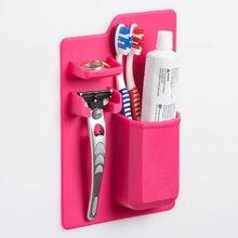 Душевая вешалка зубная щетка держатель для ванной и кухни зубная щетка на присосках держатель настенная подставка крюк чашки зеркало душевой Органайзер