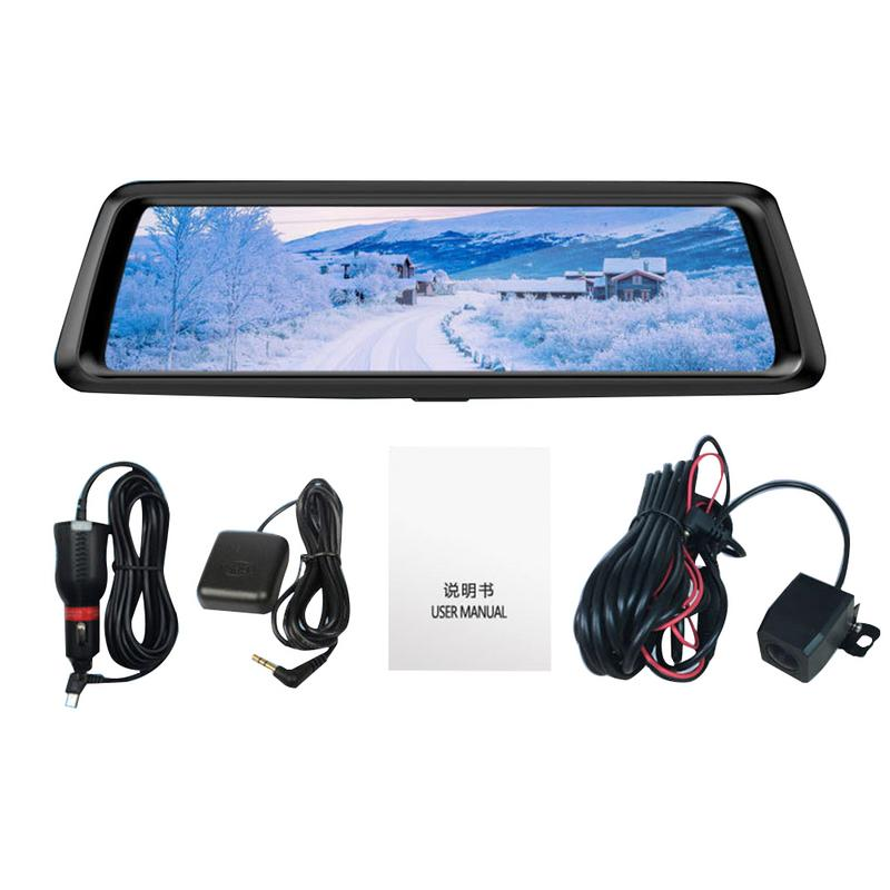 M10 Streaming Media Driving Recorder 10 Inch Full Screen Smart Rearview Mirror HD Telescopic Lens Double Recording DashcamM10 Streaming Media Driving Recorder 10 Inch Full Screen Smart Rearview Mirror HD Telescopic Lens Double Recording Dashcam
