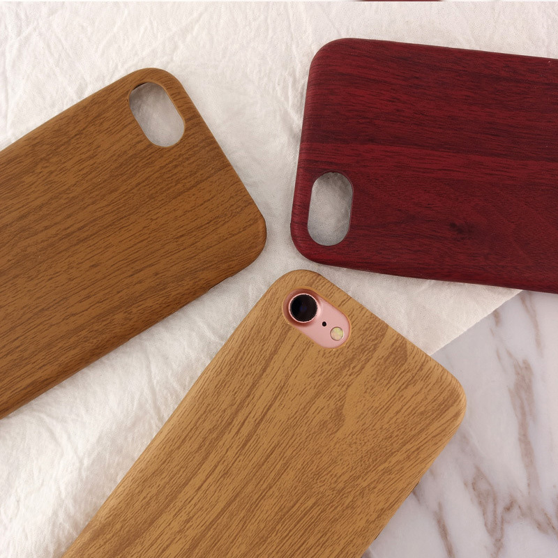 Moskado Wood Grain Phone Case For iPhone 8 7 6 6s Plus Luxury Retro Cover For