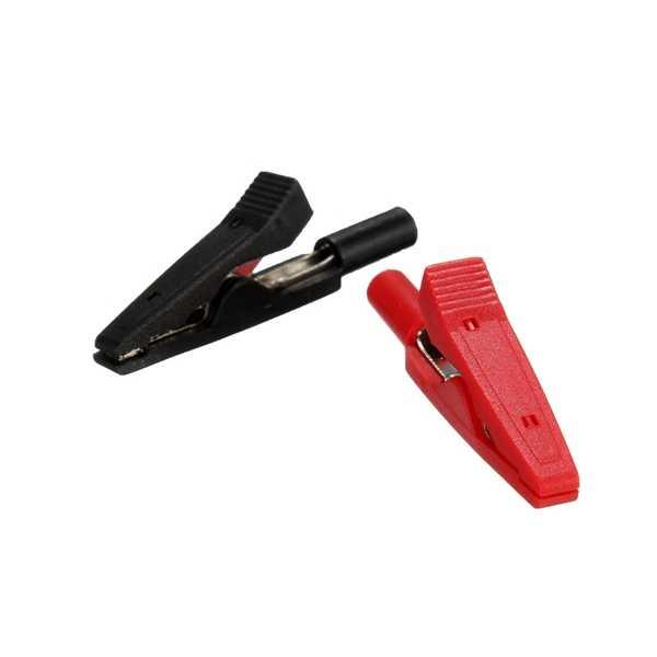 2 Pcs Baterai Test Lead Klip Buaya 2 Mm 10A Merah + Hitam 43 Mm Buaya Klip Penjepit Buaya Mobil caravan Van