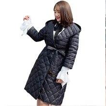Winter Jacket Coat Women Plus Size Loose Down Jacket Fashion Hooded Long White Duck Down Parka Warm Fat MM Waist Feather Jacket цены онлайн