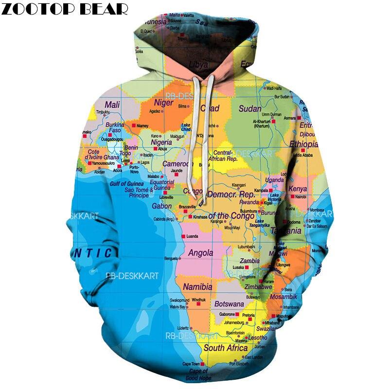Angola Map 3D Printed Spring Casual Hoody Sweatshirts Men Tracksuit Hoodies Pullover Streetwear Cloth Unisex DropShip ZOOTOPBEAR