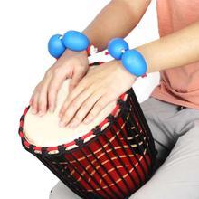 Запястье песок яйцо orff инструменты Африканский барабан укулеле выделенный аккомпанемент шейкеры ритмический инструмент песок яйцо набор