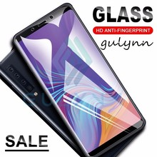 Protective Glass On For Samsung Galaxy A6 Plus 2018 A9 Star A8 A7 A5 Screen Protector Galaxy J 3 4 6 7 8 Tempered Glass Film HD 4 3 a9