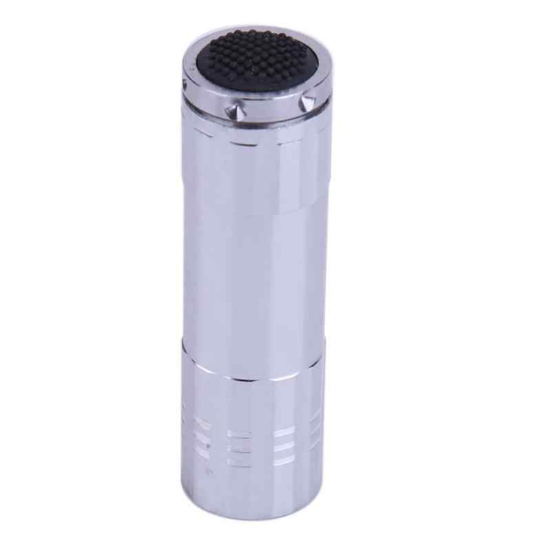 Mini 9 LED פנס אור עט לפיד עוצמה 3 AAA סוללה Linterna Led לפיד לחיצוני קמפינג עם שרוך כסף