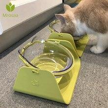 1 шт. 15 градусов регулируемая миска для домашних животных собака кошка Регулируемая миска Водоочиститель для кормления домашних собак дозаторы тарелок посуда