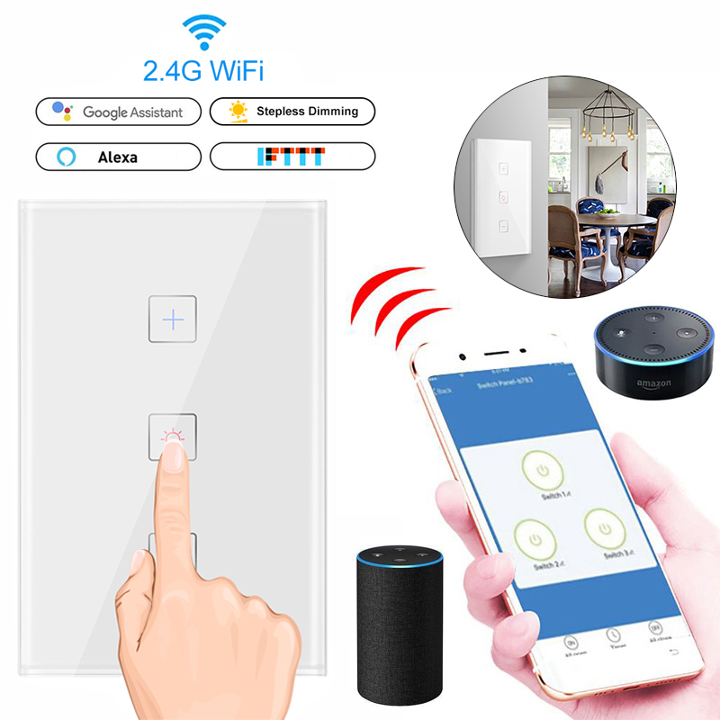 Led Dimmer Smart Wifi Switch Touch Control Stepless Dimmer