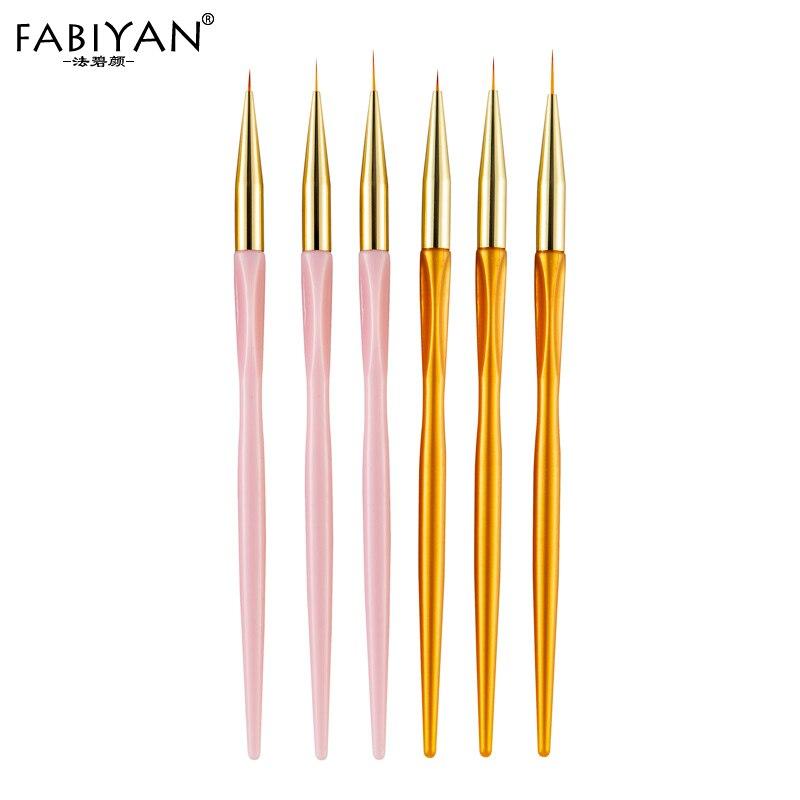 7/9/11mm 3Pcs/set Nail Art Liner Flower Painting Brush 3D DIY Lines Grid Stripe Drawing Detailing Manicure Tool UV Gel Tips Pen
