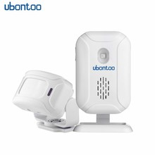 ubontoo Store Home Entry Security Welcome Chime Doorbell Wireless Infrared PIR Motion Sensor Welcome device Doorbell Alarm