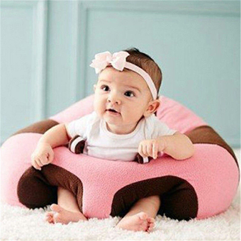 Kids Baby Support Seat Sit Up Soft Chair Cushion Sofa Plush Pillow Toy Bean Bag Infant Sitting Chair Snuggle Cute Cattle Shape