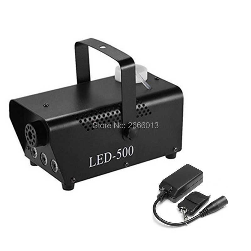 آلة الضباب الدخان اللاسلكية 500 واط RGB LED عن بعد DJ ديسكو إضاءة نادي الحفلات الأبيض ضوء الدخان المرحلة LED مبيد القاذف تأثير الضباب